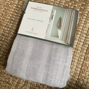"Threshold Accents - Threshold shower curtain 72""x72"""